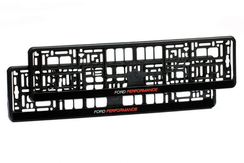 2 x Ford Performance Number Plate Holder Surround Mounting | Black + Red